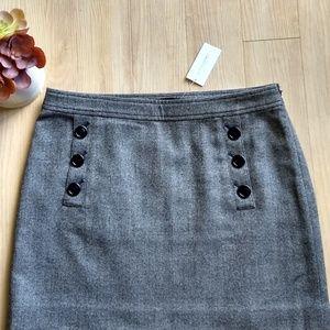 Wool Banana Republic Skirt Size 8 Gray Stretch